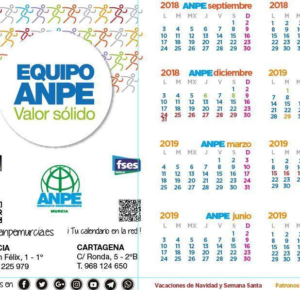 Calendario Escolar Murcia 2019.Calendario Escolar 2018 2019 Noticia